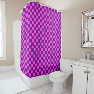 Shower curtain Karo in more brombeer