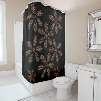 Shower curtain leopard