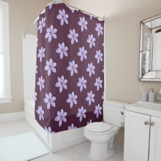 Shower Curtain - Lilac Clematis