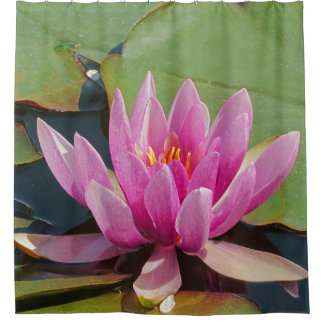 "SHOWER CURTAIN /""LOVELY PINK LOTUS BLOSSOM"""