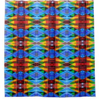 Shower Curtain--Murano Glass Blue Diamond