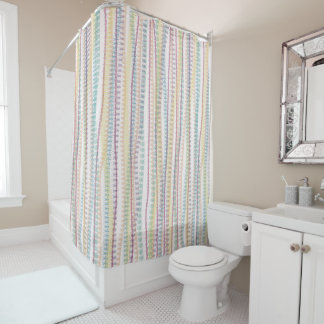 Shower Curtain/Pastel colors-stripes