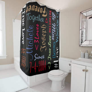 Shower Curtain Personalized Marriage Anniversary