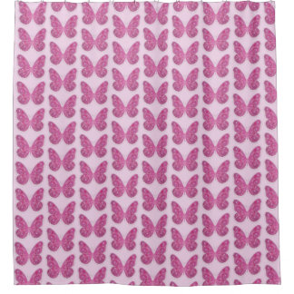 Shower Curtain--Pink Butterfly