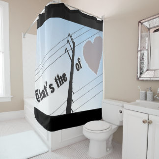 Shower Curtain POWER OF LOVE SILOUETTE