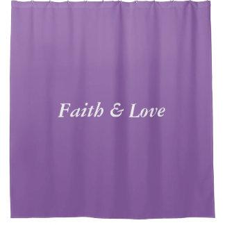 Shower curtain (purple)