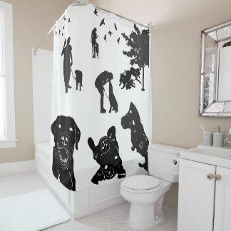 Shower Curtain Service Dog Love