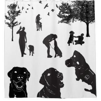 Shower Curtain Service Dog Love variation 1