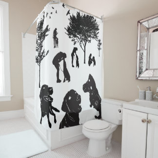 Shower Curtain Service Dog Love variation 2