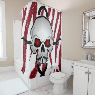 Shower curtain skulls