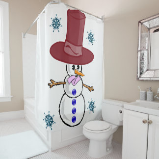 Shower curtain Snowman