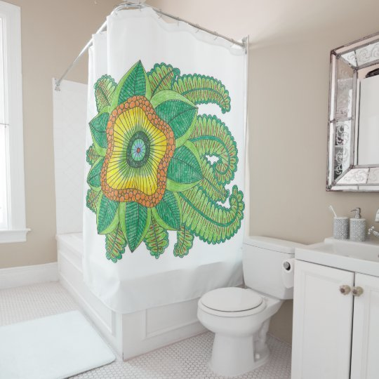 Shower curtain with a style