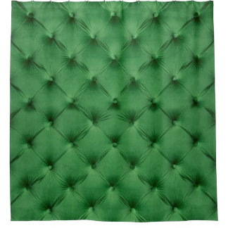 Shower Curtain with print of green capitone