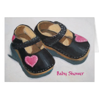 SHOWER INVITATION BABY GIRL GREETING CARD