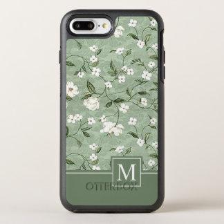 Shower of White Flowers Monogram   Phone Case