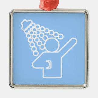 Shower Symbol Metal Ornament