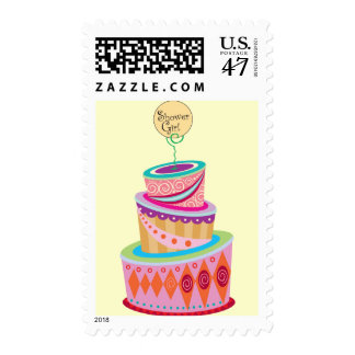 Shower Template Postage Stamp
