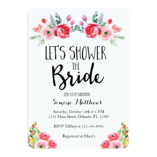 Shower the Bride Floral Bridal Shower Invitation