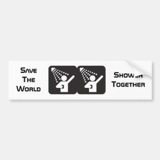 Shower Together Bumper Sticker Banner