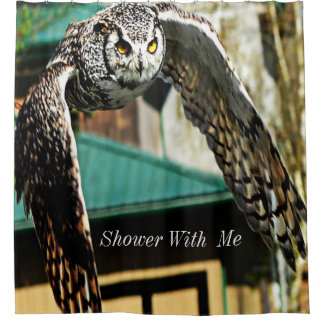 Shower With Me Great Horned Owl Yellow eye