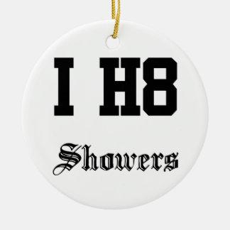showers ceramic ornament