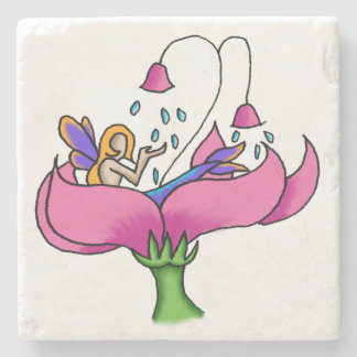 """Showers"" Simple Fairy Beverage Coaster"