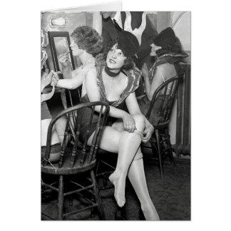 Showgirls Backstage, 1926 Card