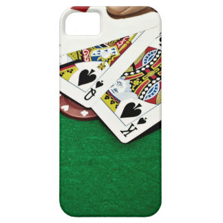 Showing cards green table poker case for the iPhone 5