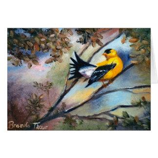 Showing Off Bird Blank Card