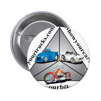 Showing off your cars 2 inch round button