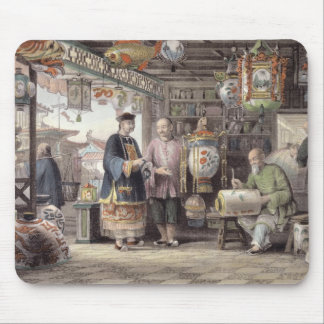 Showroom of a Lantern Merchant in Peking, from 'Ch Mouse Pad