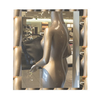 Showroom window women's fashion bags purse wallet notepads
