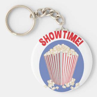 Showtime Basic Round Button Keychain
