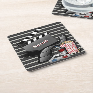 Showtime Movie Pictures Square Paper Coaster
