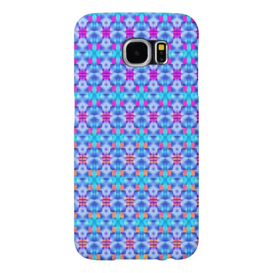 Showy blue forms, rose and peach samsung galaxy s6 case