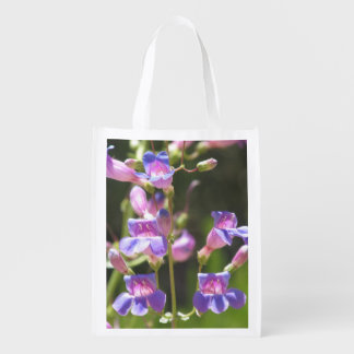 Showy Penstemon Reusable Grocery Bag