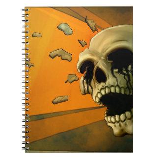 Shrapnel Skull Notebook