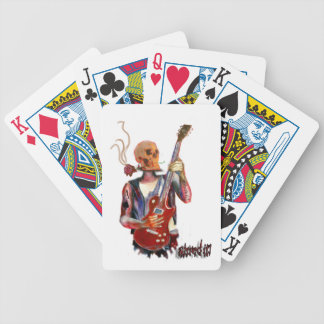shred it skull guitar art playing cards