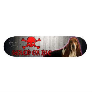 SHRED or Die Basset Hound Deck Skateboard Deck