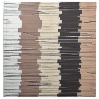 Shredded Stripes Abstract Napkin