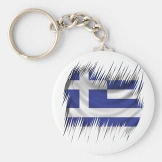 Shredders Greek Flag Basic Round Button Keychain