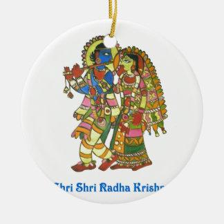 Shri Shri Radha Krishna Ceramic Ornament
