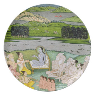Shri Sukdevji preaching to a concourse of Sadhus, Party Plate