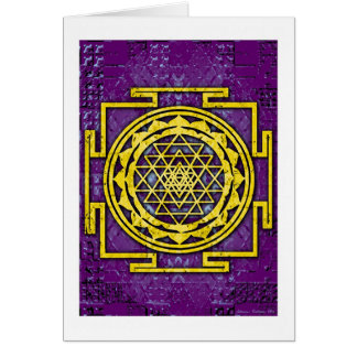 Shri Yantra Card
