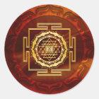 Shri Yantra - Cosmic Conductor of Energy Classic Round Sticker
