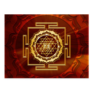 Shri Yantra - Cosmic Conductor of Energy Postcard