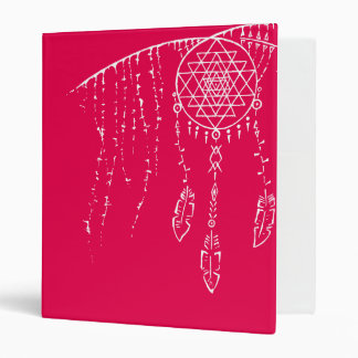 Shri Yantra / Dream Catcher 3 Ring Binder