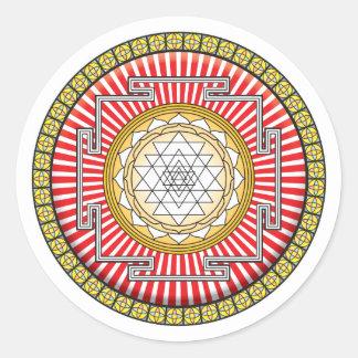 Shri Yantra Icon Classic Round Sticker