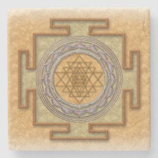 Shri yantra stone coaster