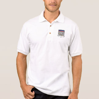 Shrike Clutching Propeller Blade Shield Retro Polo Shirt